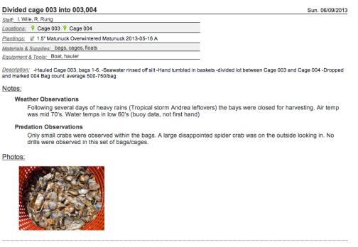 Oyster metadata